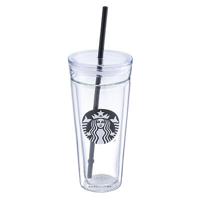 New Starbucks Cold Water Glass To Go Cup 20oz Limited Edition Free Shipping