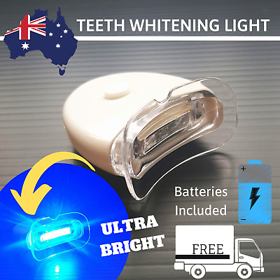 Teeth Whitening Light Ultra Bright LED Activating + 2x Bonus Sony Batteries