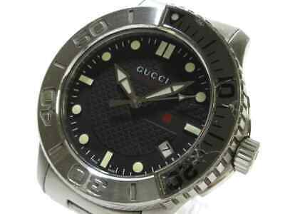 a4bc89648b8 Auth GUCCI G-Timeless Sports 126.2 Silver 15047523 Men s Wrist Watch