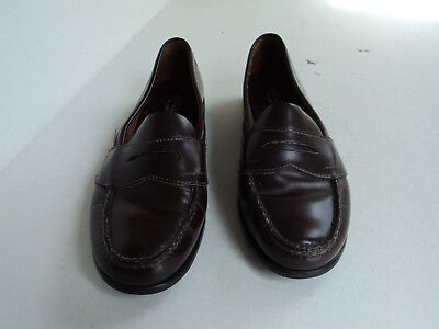 901492233e9 Eastland 9M Brown Leather Penny Loafers slip on Womens Classic II Style 3924