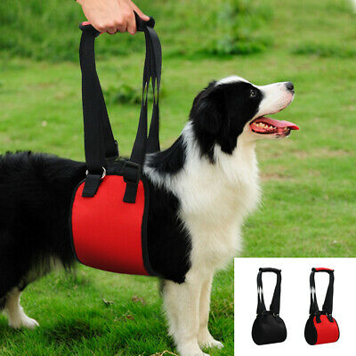 Dog Lift Support Canine Aid Assist Sling Dog Vest Lift Support Harness Black Red