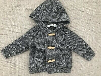 Country Road Baby Boys Girls Grey Knitted Cardigan 6-12M