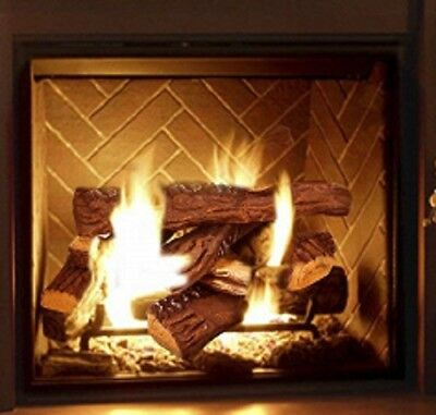 10 Small Pcs Fireplace Ceramic Wood-like Logs For Gas Fireplacs Firepits,Stoves