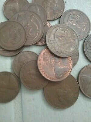 1 Cent And 2 Cent Coin  free post