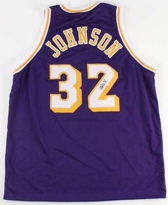 0c67e39162ac Lakers Magic Johnson Authentic Signed Yellow Jersey Autographed BAS  Witnessed 1.