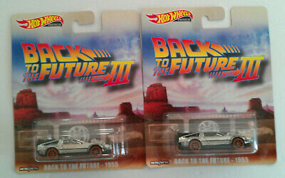 Hot Wheels Retro-Entertainment Back To The Future - 1955 Lot Of 2