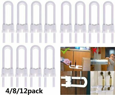 4/8/12pcs Child Baby Safety Drawer Door Cabinet Cupboard U Shape Security Lock