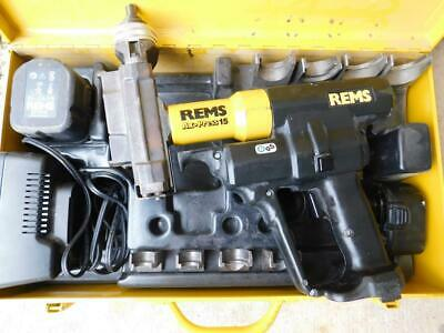 Rems Ax Press 15 Battery Powered Axial Press Compression Sleeve Tool Crimper