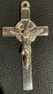 Large Sterling Silver 19th Century Spanish Crucifix USA Made by Veterans .925