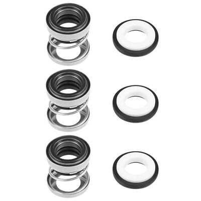 Mechanical Shaft Seal Replacement for Pool Spa Pump 3pcs 108-12