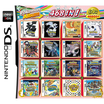 468 in 1 Games Pokemon Cartridge For NDS NDSL NDSi 3DS 2DS XL LL 3DS XL New