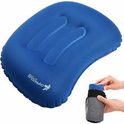 CHANODUG Inflatable Camping Pillow, Ultralight Inflating Travel Pillows, Comp...