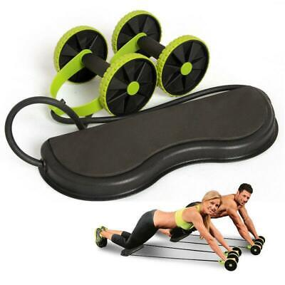 Abdominal Wheel Roller Ab Fitness Workout Gym Exercise Abs Dual Muscle Exerciser