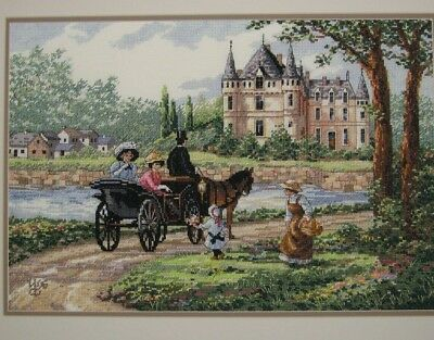 "DIMENSIONS GOLD COLLECTIONS""LADY  CHATEAU""CROSS STITCH KIT Kreuzstich STICKPACKU"