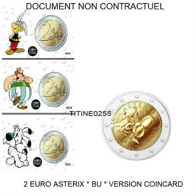 3 X 2 Euro France Asterix 2019 * Bu * Version Asterix + Obelix + Idef