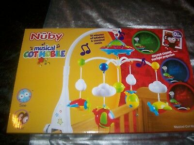 baby cot mobile musical light up brand new in box boy or girl