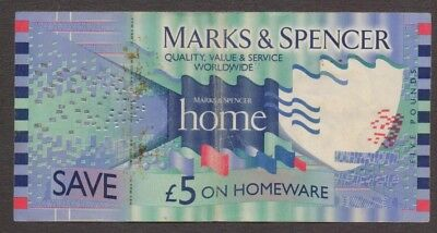 St Michael Marks & Spencer Homeware - 5 Pound Gift Voucher Collectible - Old