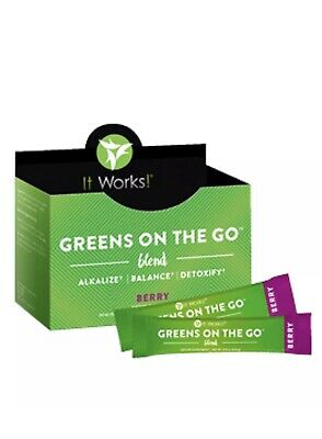 It Works! Greens on the Go Blend Berry Flavor ~ New ~ Box of 30 Packets