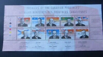 Canada 1998 Premiers of the Canadian Provinces Mini Sheet