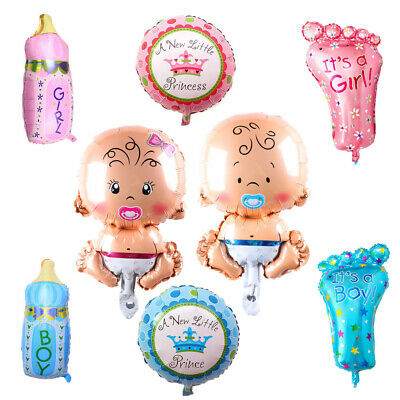4 PCS Girl Boys Foil Helium Balloon for Newborn Baby Shower Christening Birthday