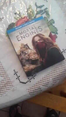 Mortal Engines BLU-RAY + DVD + No Code. Open But New