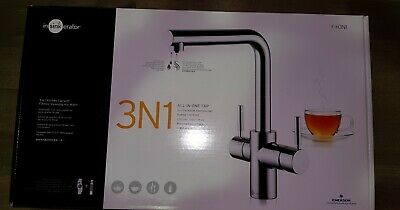 InSinkErator 3N1 Hot Filtered Water Tap - Chrome/White with Neo Tank and filter