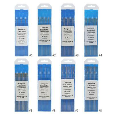 10pcs WL15 Lanthanum Tungsten TIG Electrodes for SS Metal Alloy Welding 1-3.2mm