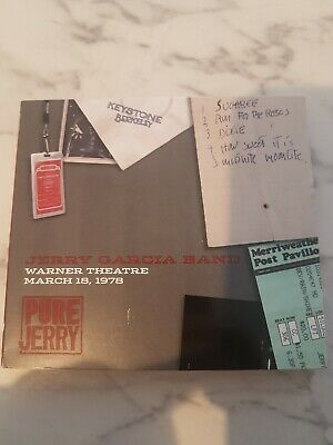 Jerry Garcia Band Warner Theatre D.c. March 18 1978 Pure Jerry 6 Grateful Dead