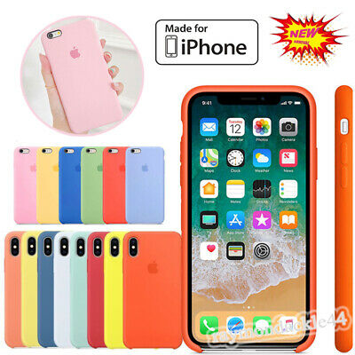 Hard Silicone Rubber Back Case Cover for Apple iPhone XR XS 11 Pro Max XR 8 7 6s