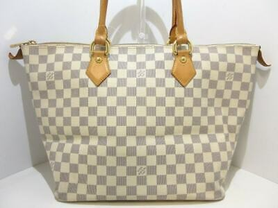 b777ef658d28 AUTH LOUIS VUITTON Saleya MM N51185 Azur Damier FL3018 Handbag ...
