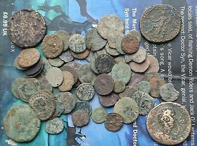 4 sesterti and 66 other Roman coins