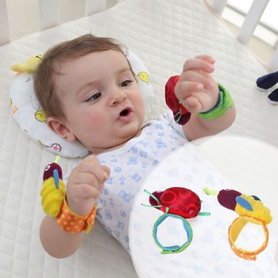 Newborn Baby Boy Girl Infant Soft Toys Wrist Band Rattles Finders Wristband US