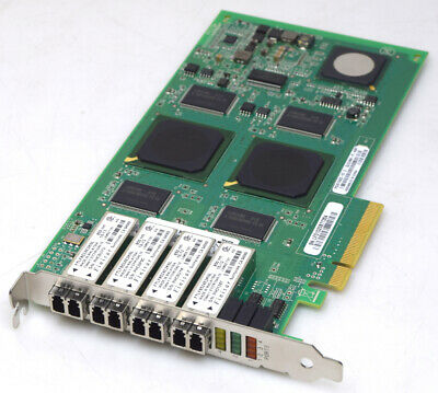 Qlogic QLE2464-NAP 4GB Quad Port FC PCI-E Network Adapter PX2610402-05 C 111-002