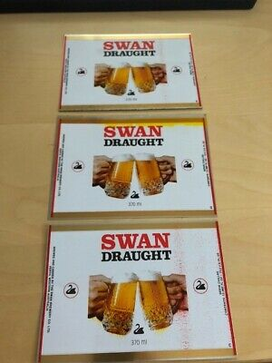3 x Swan Draught Brewery Cans 370ml - Flat - Suit Lager Emu Export Collectors