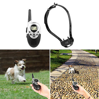 Waterproof Rechargeable Dog Shock Training Collar Remote 500 Yard Electric LCD *