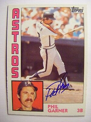 Phil Garner Signed Scrap Iron Wsc Pirates Astros 1982