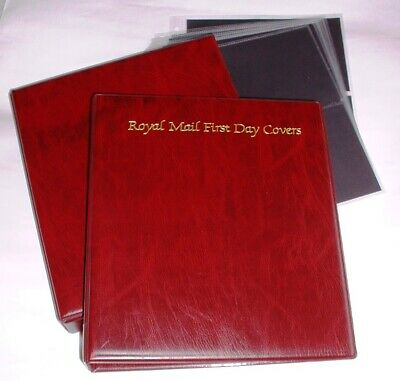 Royal Mail First Day Cover Album FDC + Slip Case + 10 Leaves, Very Good Conditio