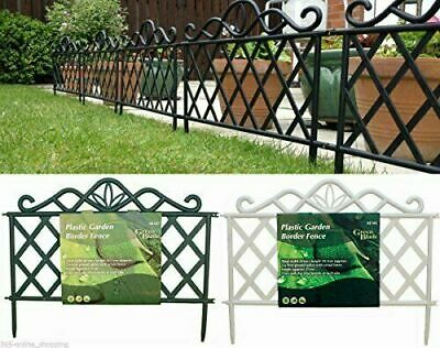 6,12 or 18 Lattice Style Garden Lawn Fencing Grass Border Edging Driveway Patio