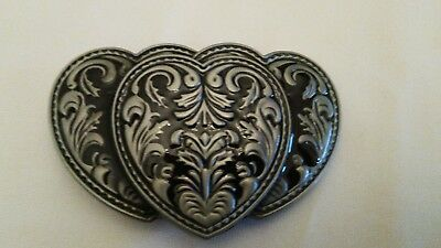 Triple Heart Belt Buckle