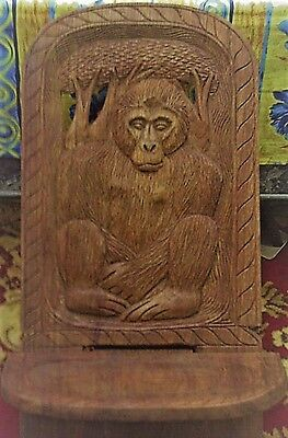 Exclusive Rare Antique Vintage Gorilla Folding Birthing Chair Congo Masterpiece