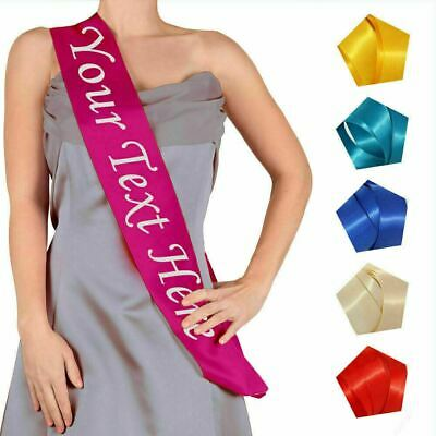 Personalised Sash Hen Party Night Do Birthday Any Occasion Colour Custom Printed