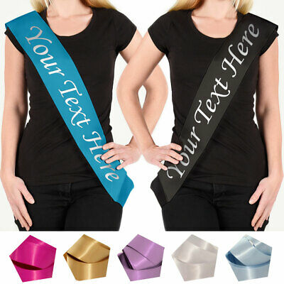 Personalised Sash Pageant Prom Homecoming King Queen Decoration Party Present