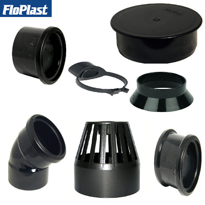 Floplast 110mm Black Soil Fittings