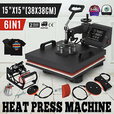 "15""x15""T-Shirt Heat Press Transfer 6IN1 Combo Printing Machine Sublimation"