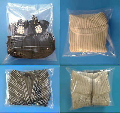 """300 Plastic 12x18"""" Clear 1-Mil Open Top Baggies Lay Flat Poly Bags"""