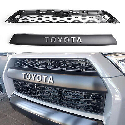 2 Piece Front Bumper Grille Replacement For 2014-2019 Toyota 4Runner TRD PRO CA