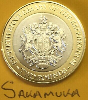 2017 GIBRALTAR £2 REFERENDUM Coin Rare Uncirculated Two Pounds (R1029)