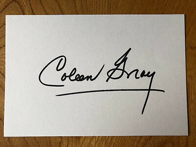 Coleen Gray American actress 6x4 signed autographed card
