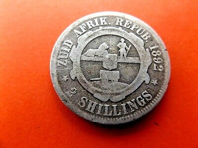 South Africa 1892 2 Shillings
