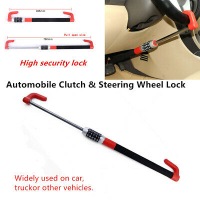 Car Steering Wheel Lock Anti-Theft Car Van Security Device Clutch Lock Functions